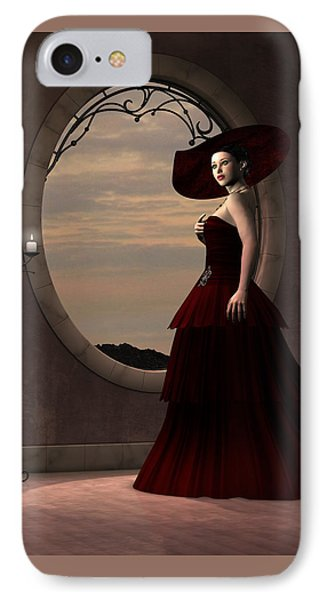 Lady In Red Dress Phone Case by Corey Ford