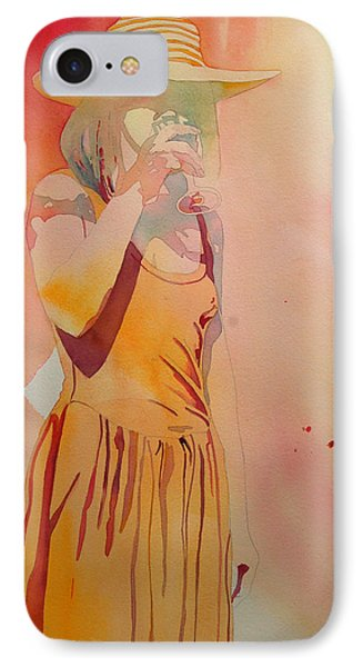 Lady In Yellow IPhone Case