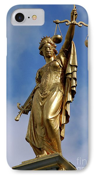 IPhone Case featuring the photograph Lady Justice In Bruges by RicardMN Photography