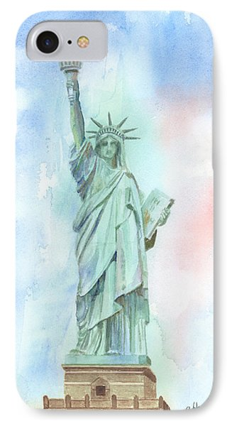 Lady Liberty Phone Case by Arline Wagner