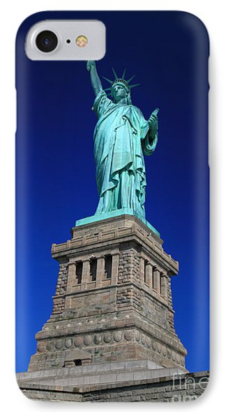 Lady Liberty Ellis Island Nyc IPhone Case by Wayne Moran