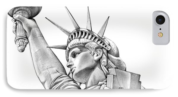 Lady Liberty IPhone Case by Greg Joens