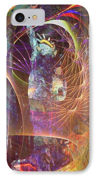 Lady Liberty Phone Case by John Beck