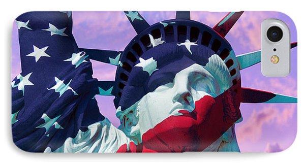 Lady Liberty Patriot IPhone Case by Jon Neidert