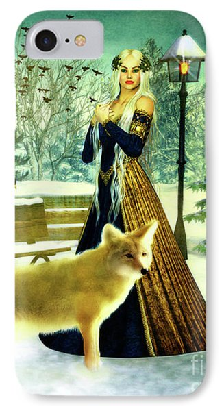 Lady Of Winter IPhone Case by KaFra Art