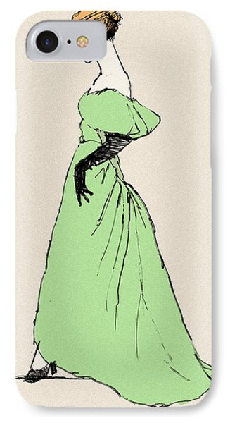Lady On A Wire IPhone Case by H James Hoff