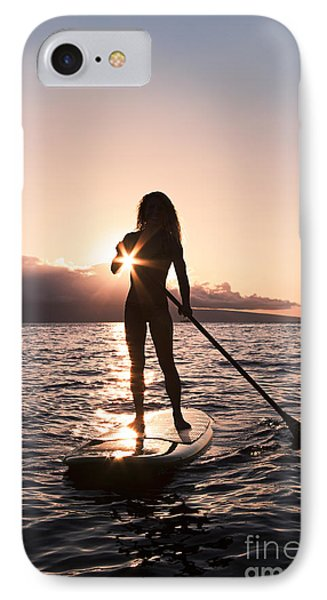 Lady Paddling Phone Case by Dave Fleetham - Printscapes