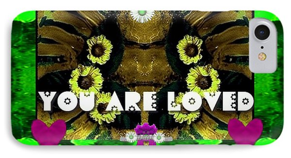 Lady Panda Says You Are Loved IPhone Case