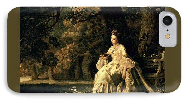 Lady Reading In A Park IPhone Case