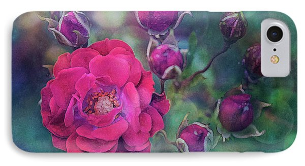 Lady Rose IPhone Case by Agnieszka Mlicka