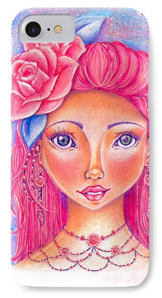 Lady Rose Phone Case by Delein Padilla