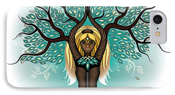 Lady Shaman Tree IPhone Case by Serena King