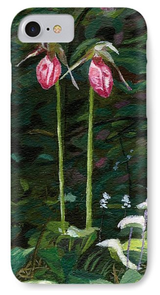 IPhone Case featuring the painting Lady Slipper by Lynne Reichhart
