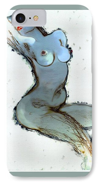 IPhone Case featuring the painting Lady Sophia - Female Nude by Carolyn Weltman