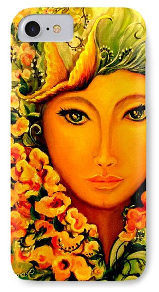 IPhone Case featuring the painting Lady Sring by Yolanda Rodriguez