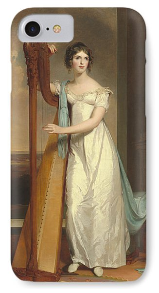 Lady With A Harp IPhone Case