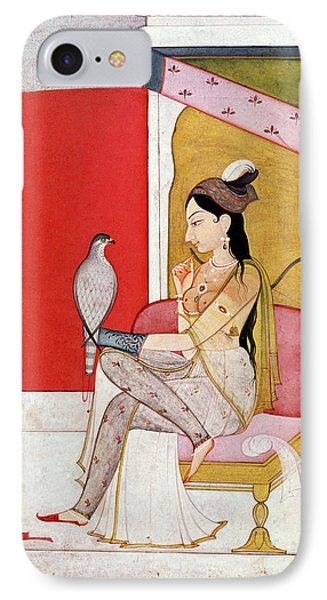 Lady With A Hawk IPhone Case