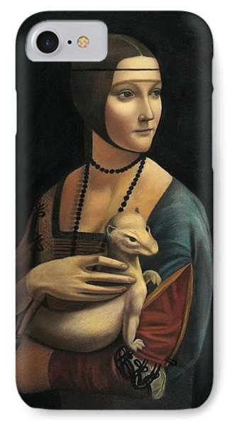 Lady With Ermine - Pastel IPhone Case