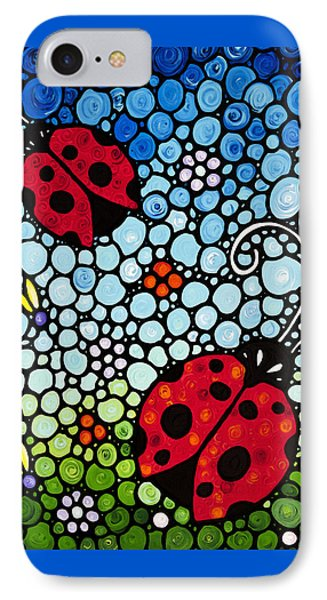 Ladybug Art - Joyous Ladies 2 - Sharon Cummings IPhone 7 Case by Sharon Cummings