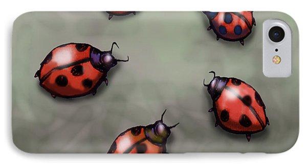 Ladybugs Phone Case by Kevin Middleton