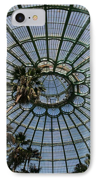 Laeken Belgium Internal View Of The Big Greenhouse Dome So Called Jardins Dhiver  IPhone Case by Jean Pol GRANDMONT