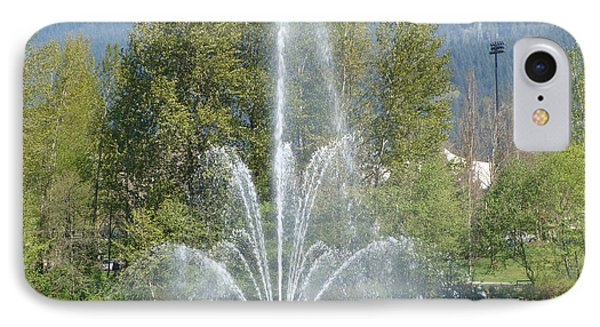 IPhone Case featuring the painting Lafarge Lake Fountain by Rod Jellison