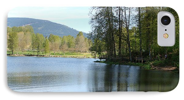 Lafarge Lake Serenity IPhone Case by Rod Jellison