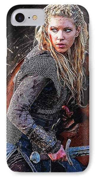 Lagertha IPhone Case by Semih Yurdabak