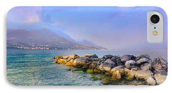 Lago Di Garda. Stones IPhone Case by Dmytro Korol