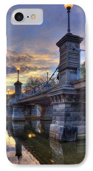 Lagoon Bridge - Boston Public Garden IPhone Case by Joann Vitali