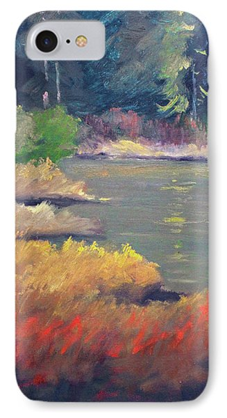 IPhone 7 Case featuring the painting Lagoon by Nancy Merkle