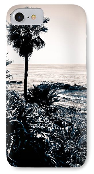 Laguna Beach California Black And White IPhone Case by Paul Velgos