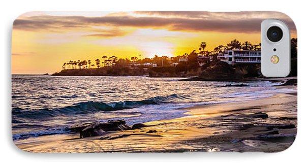 Laguna Beach California Sunset Panorama Photo IPhone Case by Paul Velgos