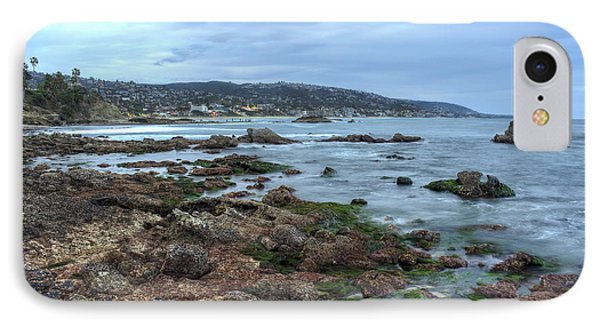 IPhone Case featuring the photograph Laguna Beach Shoreline At Low Tide by Eddie Yerkish