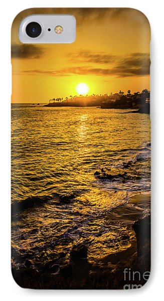 Laguna Beach Sunset Picture At Shaw's Cove IPhone Case by Paul Velgos