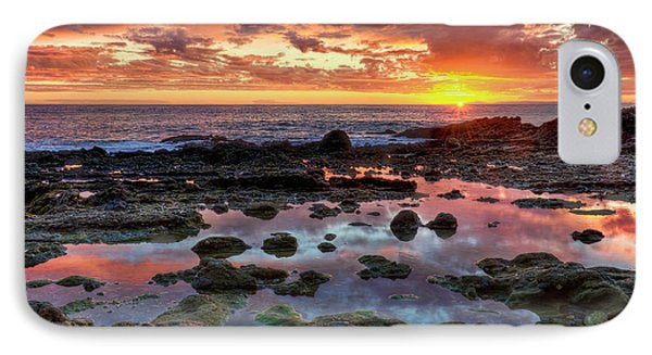IPhone Case featuring the photograph Laguna Beach Tidepools At Sunset by Eddie Yerkish