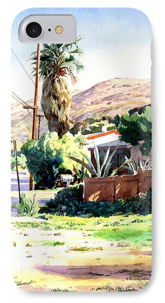 IPhone Case featuring the painting Laguna Canyon Palm by John Norman Stewart