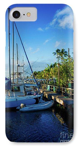 IPhone Case featuring the photograph Lahaina Marina Blue Twilight by Sharon Mau