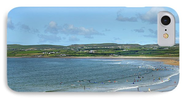 IPhone Case featuring the photograph Lahinch Beach by Terence Davis