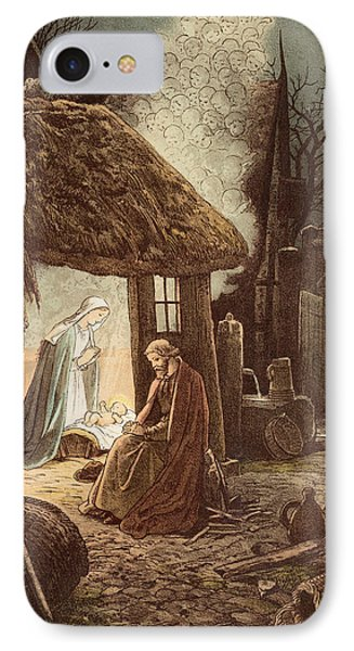 Laid In A Manger IPhone Case by Victor Paul Mohn