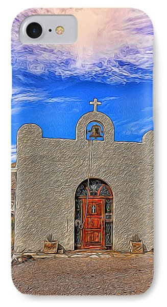 Lajitas Chapel Painted IPhone Case by Judy Vincent