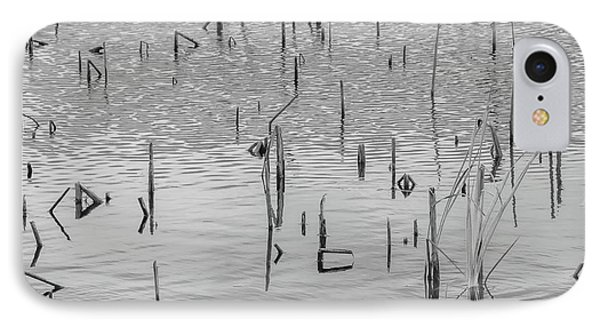 IPhone Case featuring the photograph Lake Abstract by Carolyn Dalessandro
