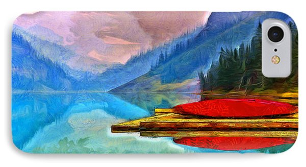 Lake And Mountains - Da IPhone Case by Leonardo Digenio