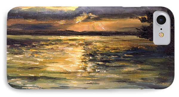 IPhone Case featuring the painting Lake by Arturas Slapsys