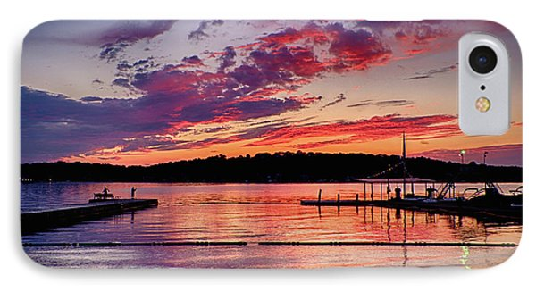Lake Beach Sunset IPhone Case by Mark Miller