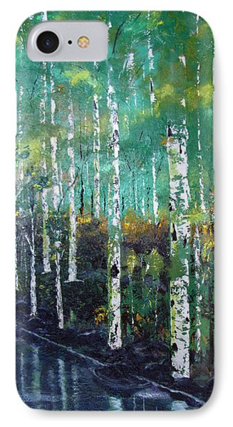 IPhone Case featuring the painting Lake Birch by Gary Smith