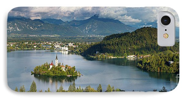 IPhone Case featuring the photograph Lake Bled Pano by Brian Jannsen