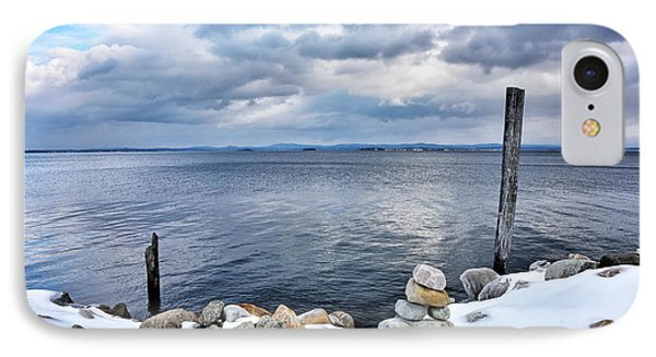 Lake Champlain During Winter IPhone Case by Brendan Reals