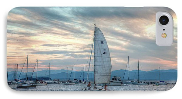 IPhone Case featuring the photograph Lake Champlain Sunset Sail by Susan Cole Kelly