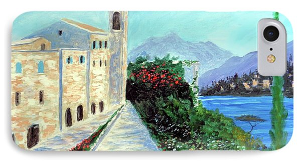 IPhone Case featuring the painting Lake Como Colors  by Larry Cirigliano